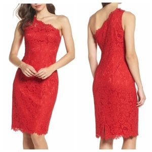 Eliza J | One-Shoulder Lace Dress